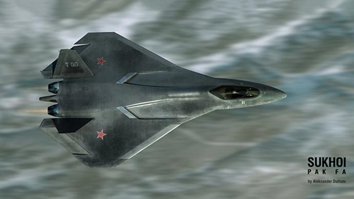 Possible PAK-FA appearance visualized by Aleksandr Dultsev (Image from www.duler.ru)