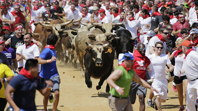 Drones, horns, injuries: UAV tumbles into Virginia bull run crowd