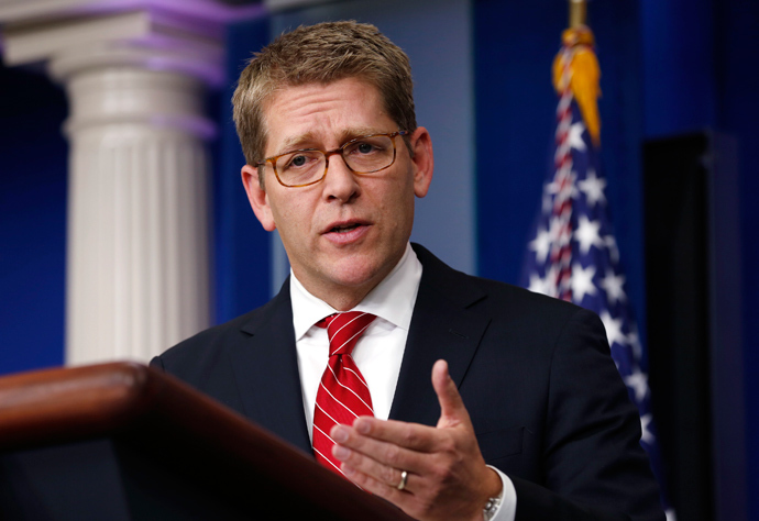White House Press Secretary Jay Carney (Reuters / Kevin Lamarque)