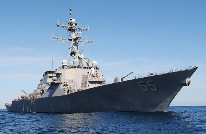 USS Stout (DDG 55), a guided-missile destroyer (AFP Photo / Gary A. Prill)