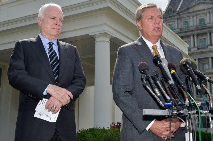 U.S. Senator Lindsey Graham and U.S. Senator John McCain.(Reuters / Mike Theiler)