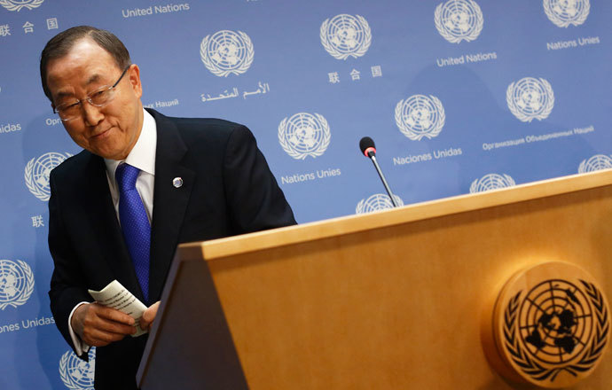 United Nations Secretary-General Ban Ki-moon.(Reuters / Brendan McDermid)