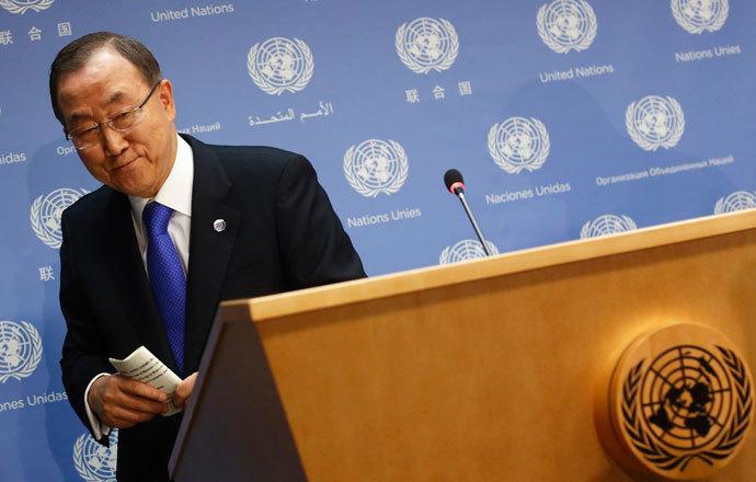 United Nations Secretary-General Ban Ki-moon.(Reuters / Brendan McDermid)