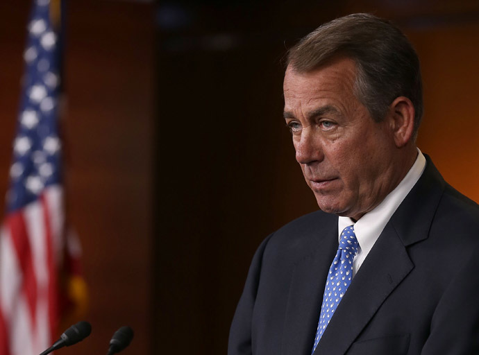 US House Speaker John Boehner (Mark Wilson/Getty Images/AFP)