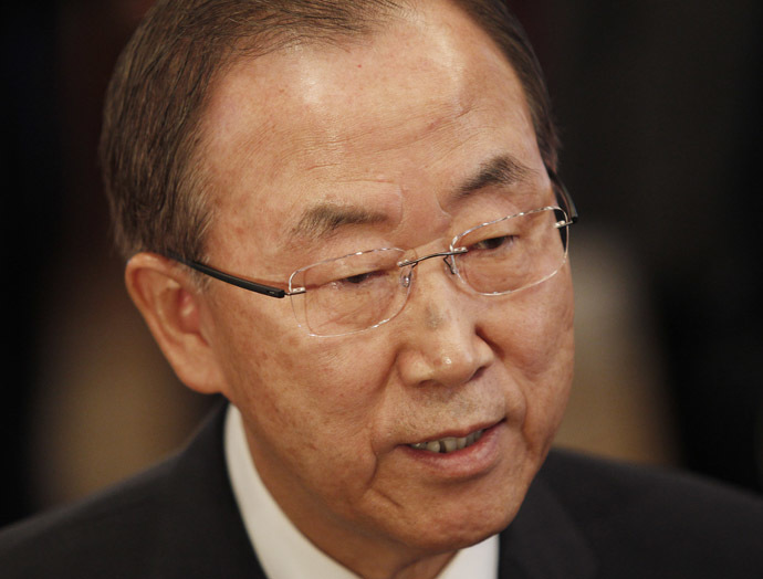 Secretary-General of the United Nations Ban Ki-moon (AFP Photo)