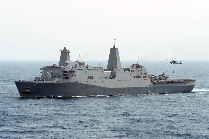 USS San Antonio (AFP Photo / HO / US Navy / MC3 Derek Paumen)