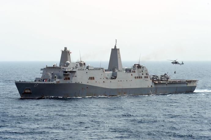 USS San Antonio (AFP Photo / HO / US Navy / MC3 Derek Paumen)
