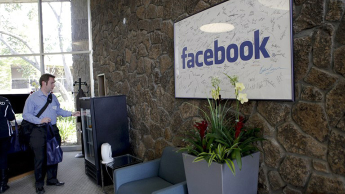 The reception at Facebook headquarters in Palo Alto, CA (AFP Photo / Ryan Anson)