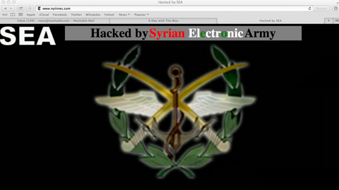 hacked.si Syrian Electronic Army takes down New York Times website