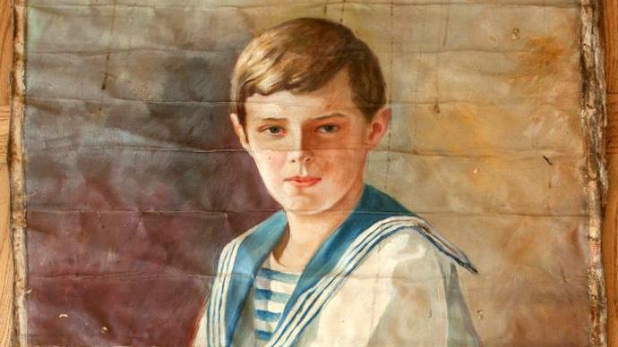 Royal treasure: Hidden portrait of 'last Tsarevich' discovered in attic