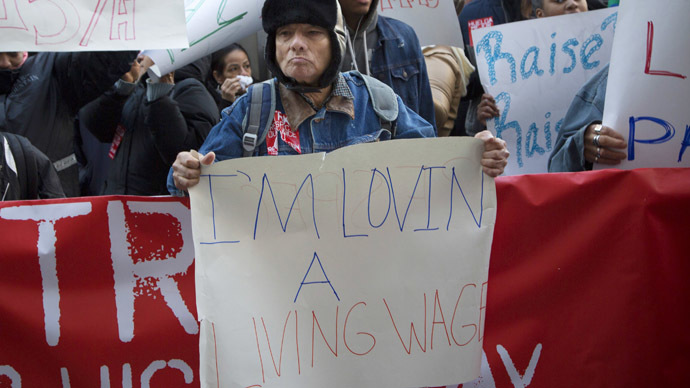 US fast-food workers stage nationwide strike over low wages