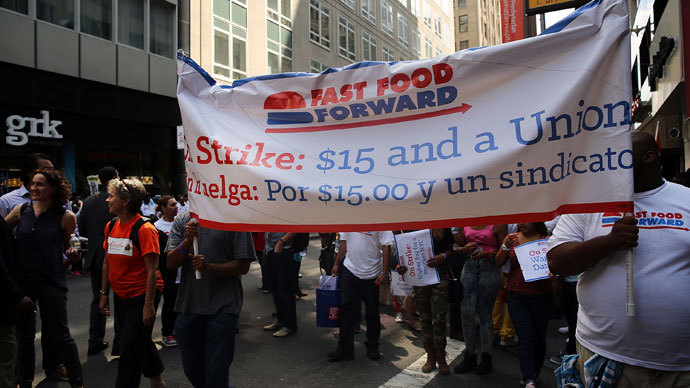 'You can't survive on that': Fast-food workers across US strike for better wages