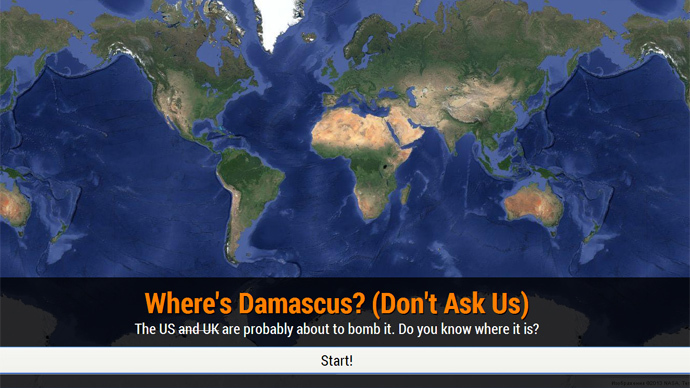 DoD has problems locating Damascus in new map quiz