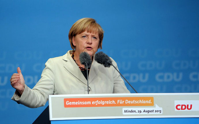 German Chancellor Angela Merkel (AFP Photo / Oliver Krato)