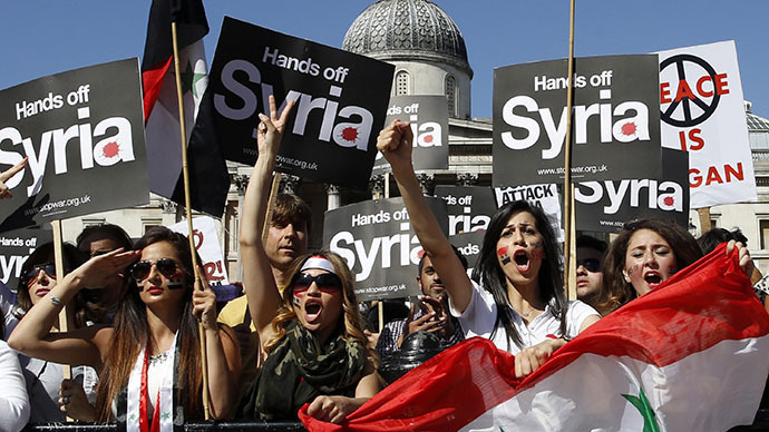 Syria anti-intervention march in London draws thousands (PHOTOS)