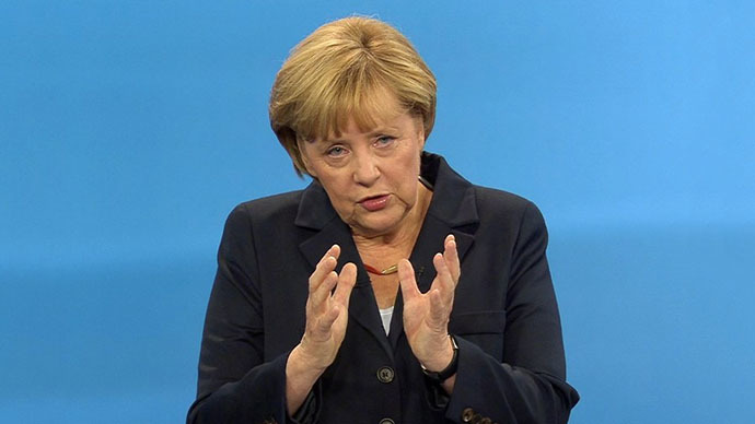 German Chancellor Angela Merkel (AFP Photo / WDR / RTL / Max Kohr)