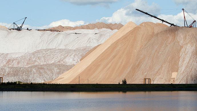 Mining operation of Belaruskali Company in Soligorsk. (RIA Novosti / Andrei Aleksandrov)