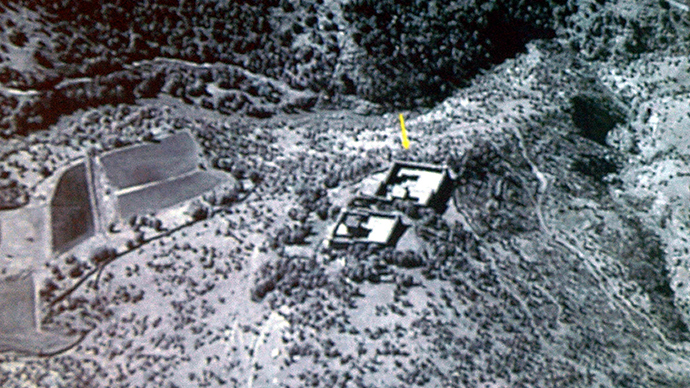 This file image shows the alleged hideout of suspected al-Qaeda operatives in the tribal area of South Waziristan, bordering Afghanistan. (AFP Photo)