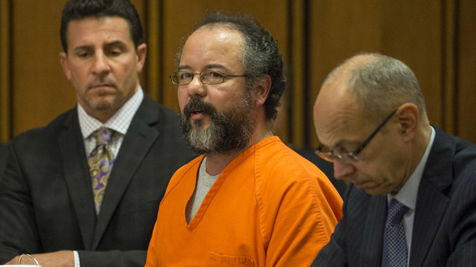 This August 1, 2013 file photo shows Ariel Castro (C) pleading to Judge Michael Russo during his sentencing in Cleveland, Ohio. (Files/Angelo Merendino/Getty Images/AFP)