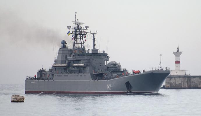 """Landing craft carrier """"Novocherkassk"""" (RIA Novosti / Vasiliy Batanov)"""
