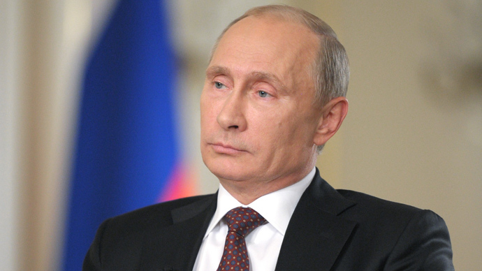 Vladimir Putin in Novo-Ogaryovo during an interview to Channel One and The Associated Press (RIA Novosti / Alexei Druzhinin)