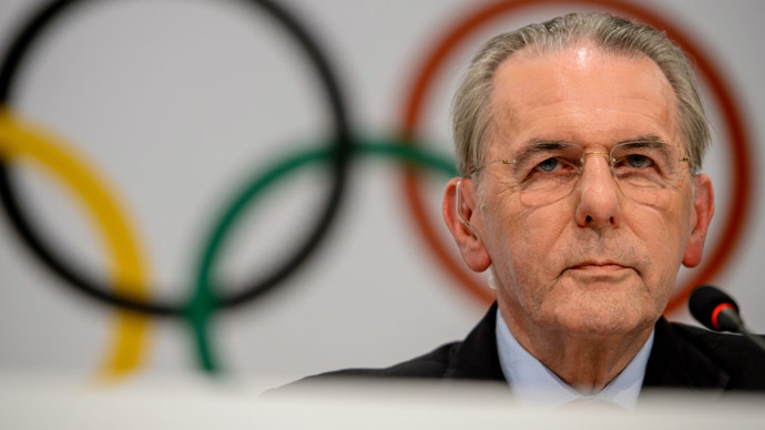Outgoing International Olympic Committee president Jacques Rogge speaks during a press conference in Buenos Aires on September 04, 2013. (AFP Photo/Fabrice Coffrini)