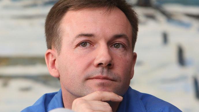 Yuri Lonchakov, member of the 18th International Space Station expedition, present at the first post-flight press conference in Star City.(RIA Novosti / Iliya Pitalev)