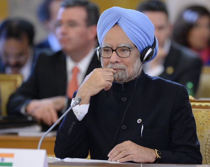 India's Prime Minister Manmohan Singh (AFP Photo / G20RUSSIA)