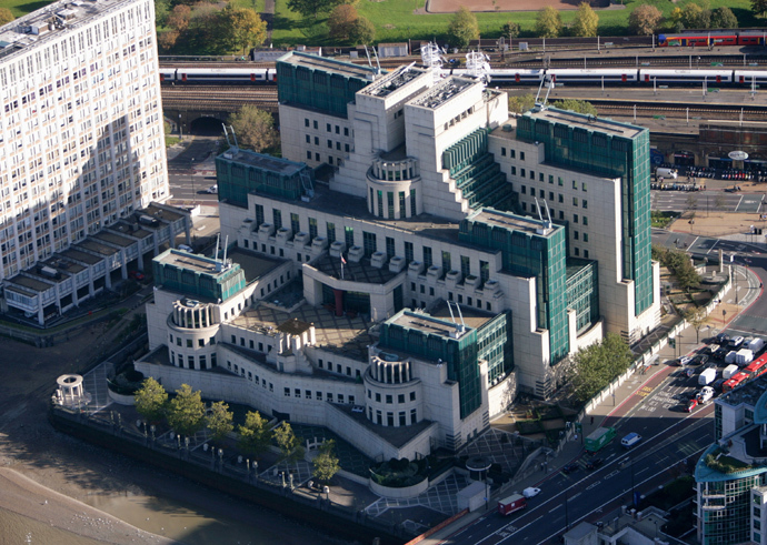 A general view of the MI6 headquarters in London (Reuters / Kieran Dohert)