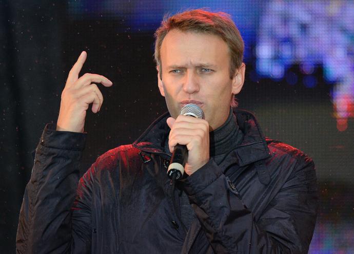 Moscow mayoral candidate Alexei Navalny at a rally concert on Akademika Sakharova Prospekt (RIA Novosti / Vladimir Pesnya)