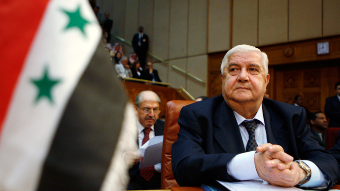 Syrian FM: We are ready to sign Chemical Weapons Convention