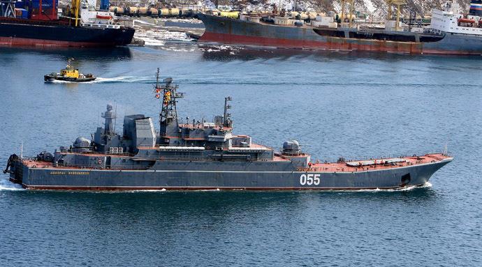 "Landing craft carrier ""Admiral Nevelskoy"". (RIA Novosti/Ildus Gilyazutdinov)"