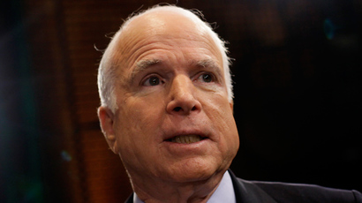 McCain baffles Russian communists promising to respond to Putin's op-ed in Pravda