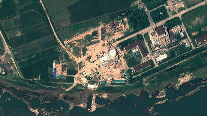 This file satellite image taken on August 6, 2012 and provided by GeoEye on August 22, 2012 shows the Yongbyon Nuclear Scientific Research Centre in North Korea. (AFP/GeoEye)