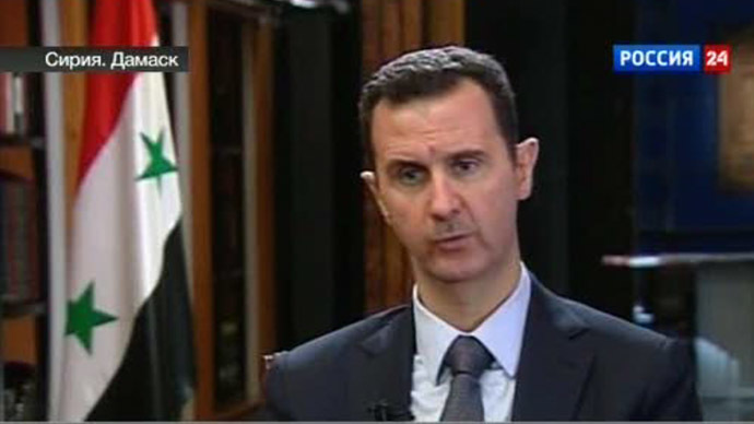Syrian President Bashar Assad (Still from Rossia-24 video)