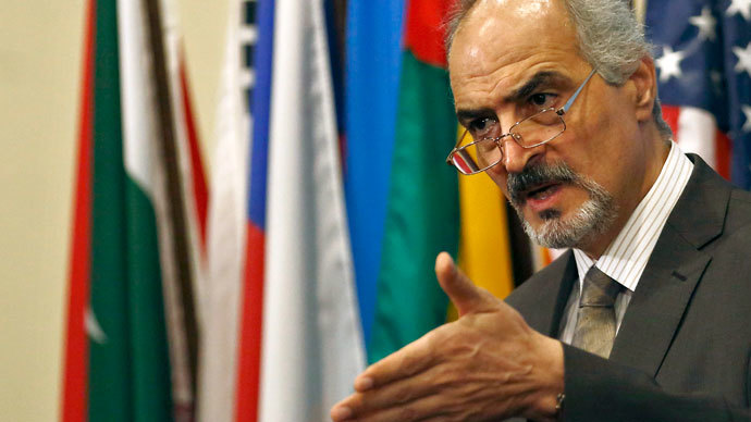 Syrian Ambassador to the United Nations Bashar Jaafari.(Reuters / Brendan McDermid)