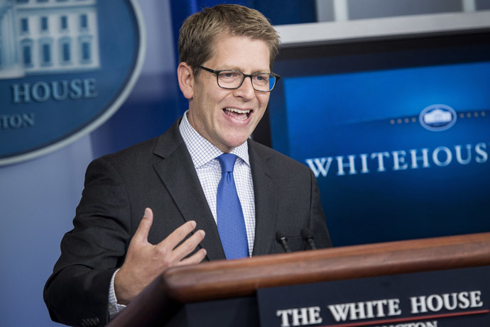 White House Press Secretary Jay Carney (AFP Photo)