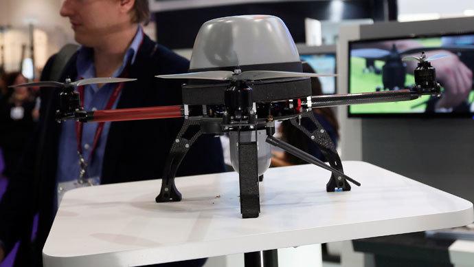 Future war: Arms industry shows off next-gen drones in London