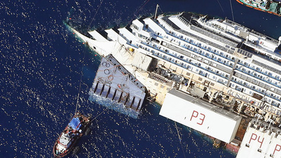 Wrecked Costa Concordia cruise ship set upright (PHOTOS, VIDEO)