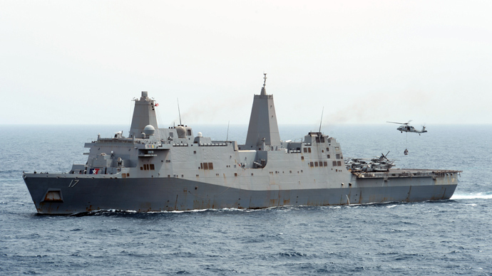 USS San Antonio (LPD 17) (AFP Photo)