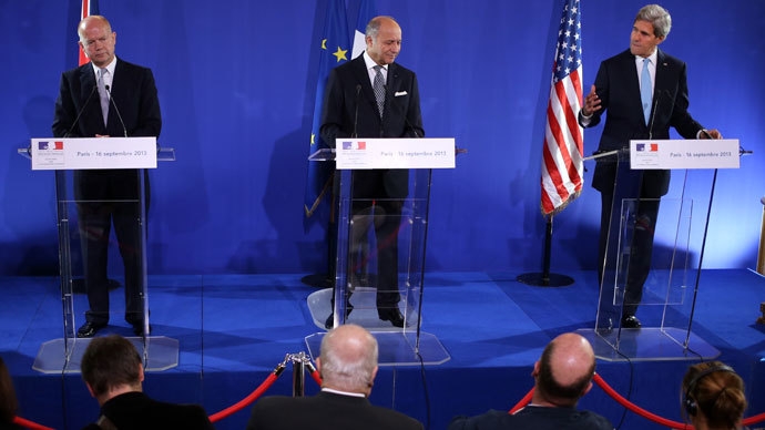US, UK, France agree to boost support for Syrian rebels – French FM
