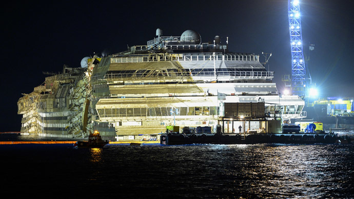 Costa Concordia refloated for final voyage to scrap yard (PHOTOS, VIDEO)