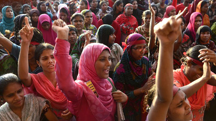 50,000 Bangladeshi garment workers strike over 'inhuman' wages