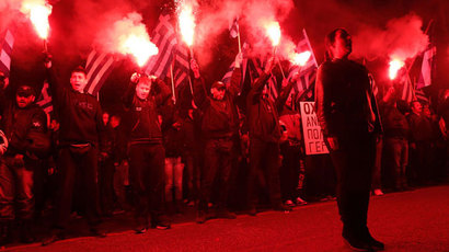 Greek anti-fascist rally turns violent