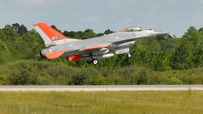 Air Force's unmanned F-16 fighter jet completes first flight