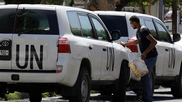 UN checking 7 reported chemical incidents in Syria, incl 3 near Damascus