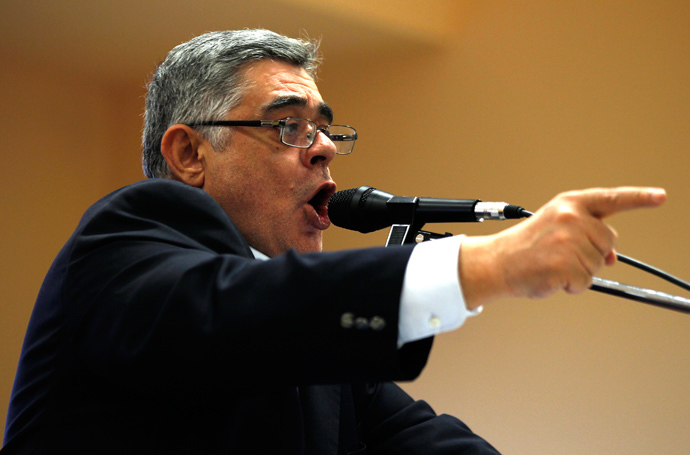 Leader of far-right Golden Dawn party Nikolaos Mihaloliakos (Reuters / Yannis Behrakis)