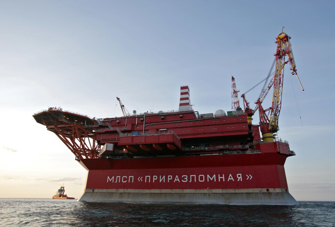 The Prirazlomnaya oil rig in the Barents Sea (RIA Novosti/Igor Podgornyi)
