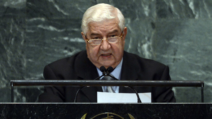 Syrian Foreign Minister Walid Moallem (AFP Photo/Timothy A. Clary)