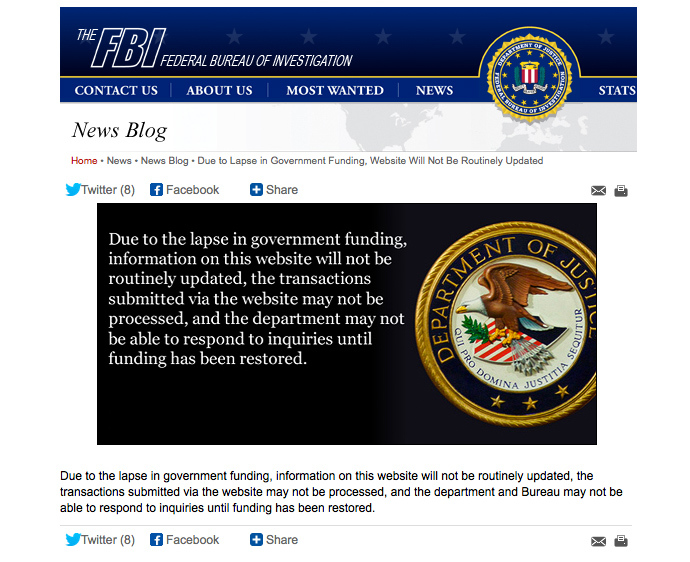 Screenshot from fbi.gov